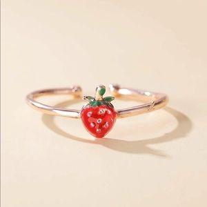 RESTOCK! Rose Gold Strawberry Ring 🍓